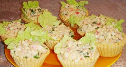 Салат в тарталетках с фото